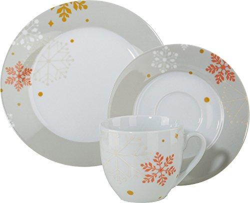 Gepolana Kaffeeservice 12-tlg. Porzellan grau Größe 20 Ø