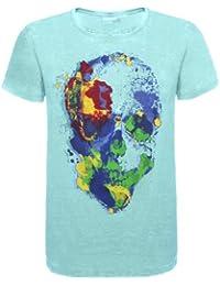 Eight2Nine by Urban Surface Herren T-Shirt Skull Herrenshirt kurzarm mit Skull Print