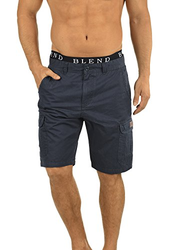 Stretch-wolle T-shirt (BLEND 20702259ME Crixus Cargo Shorts, Größe:M;Farbe:India Ink (70151))