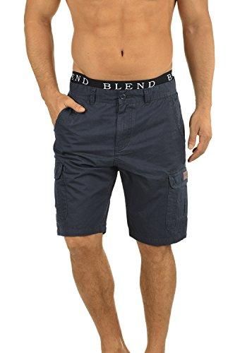 BLEND 20702259ME Crixus Cargo Shorts, Größe:M;Farbe:India Ink (70151) Stretch-herren-fleece