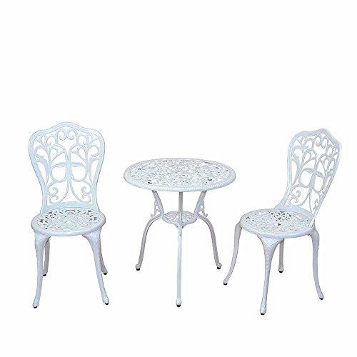 Pharao24 Garten Sitzgruppe in Weiß Vintage Design