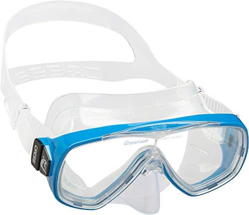 """TESTNOTE: \""""SEHR GUT\"""" - Innovative Premium Taucherbrille \""""ONDA\"""" von CRESSI :: gehärtete Anti-Beschlag Gläser für kristallklare Sicht :: durchgehendes Glas ermöglicht größtmögliche Sicht :: extra breite Gummizone garantiert maximalen Komfort :: 100{3f9329dbda303069e7663276c50960db3f2c5d08663354dc84c48cba826e4d3a} wasserdicht :: Komfort-Gummiband für perfekten Sitz :: exklusives Design :: auch für Kinder und Jugendliche geeignet :: inklusive 3 Jahren CRESSI Produktgarantie"""