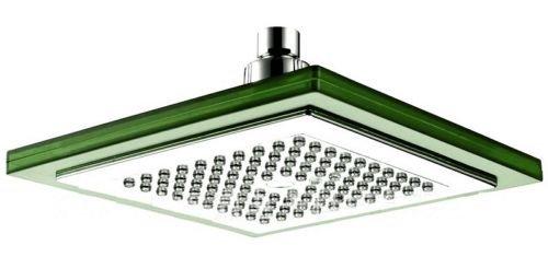 Große LED Duschkopf Regen-Brause ESTAR-LINE® Eckig ca. 22,5 x 22,5 cm - 7 Farben Bunte Farbwechsel Regenbogen - Farbwechsel Geeignet für Zuhause und Hotel - Leuchtet Bunt -