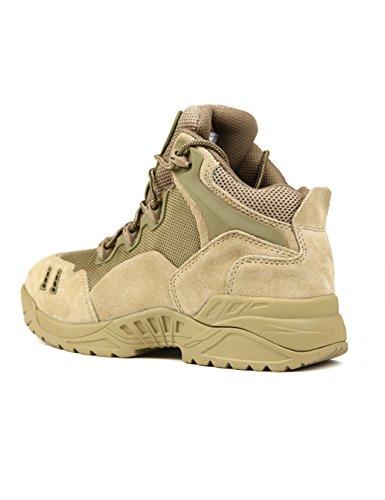 FREE SOLDIER Chaussures de randonnée pour hommes Chaussures de randonnée et d'escalade Bottes antidérapantes, respirantes et coupe-faibles Sable