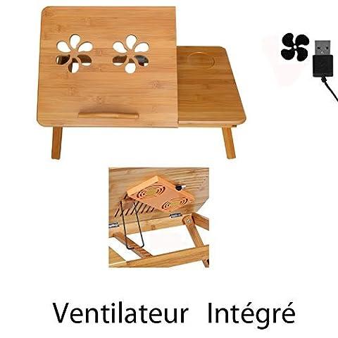 MERVY - LA MOINS CHERE D'AMAZON ! Table de lit pliable pour PC portable/notebook + tiroir. Plateau de petit déjeuner - le petit déjeuner au lit.Table d'ordinateur portable pour le lit / pour canapé, Ajustable, Support pour ordinateur portable, en bois, Table pour lecture, Support ,Table