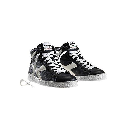 Diadora Game L High Waxed, Sneaker a Collo Alto Uomo Nero (Nero/Bianco Nuvola)
