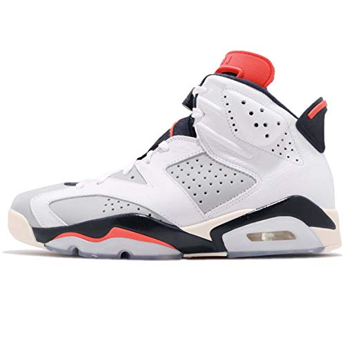 Nike Air Jordan 6 Retro (Nike Herren Air Jordan 6 Retro Fitnessschuhe, Mehrfarbig Infrared 23/Neutral Grey/White 104, 46 EU)
