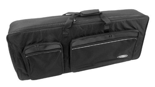 Classic Cantabile KT-B Keyboardtasche Größe B schwarz (Innenmaße 98 x 40 x 15cm, Schaumstoffpolsterung, Reiß- und Wasserfest, Rucksackgurte verstellbar)