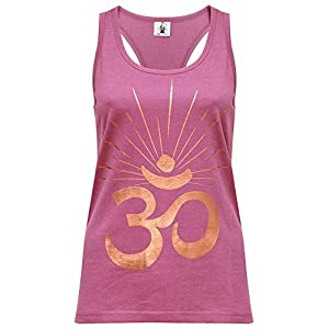 Yogistar Yoga-Racerback-top om Sunray – Rosewine/Copper