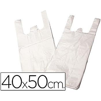 BOLSA PLASTICO CAMISETA 40X50 CM -PAQUETE 200