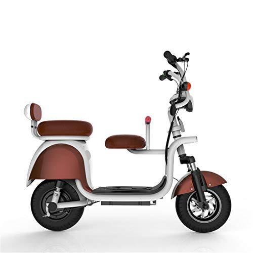 Creing Elektrischer Roller E-Scooter Faltbarer Power Scooter Mit Sitz Elektroroller StraßEnzulassung Cityroller 33 km/h,Coffee (Motorroller Sitz)