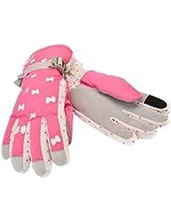 Gants chauds en hiver pour les femmes roses