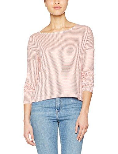 Only Onlselena L/S Stripe Top Ess, T-Shirt Femme Blanc (Cloud Dancer_CHRYSANTEMUM)