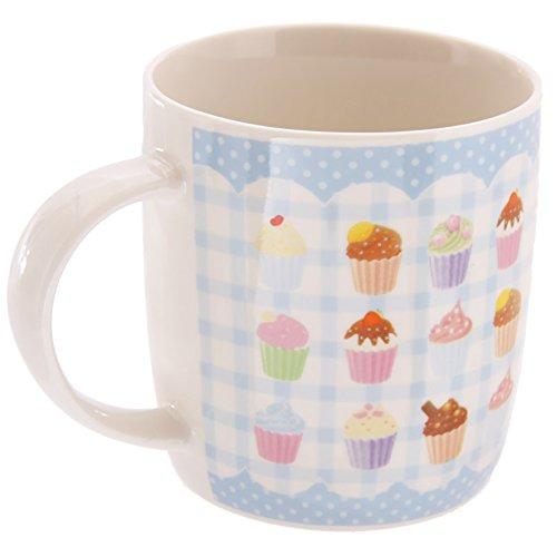Puckator MUG145 Mug Motif Gâteaux Anglais par Lauren Billingham Porcelaine