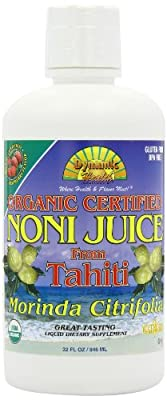 Dynamic Health 946ml Organic Raspberry Flavour Tahitian Noni Juice - Pack of 2 from Dynamic Health Laboratories Inc