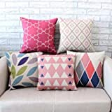 #9: FASHION FOLK New Designed Printed Cushion Covers < 16 x 16 > Set of 5 Pieces