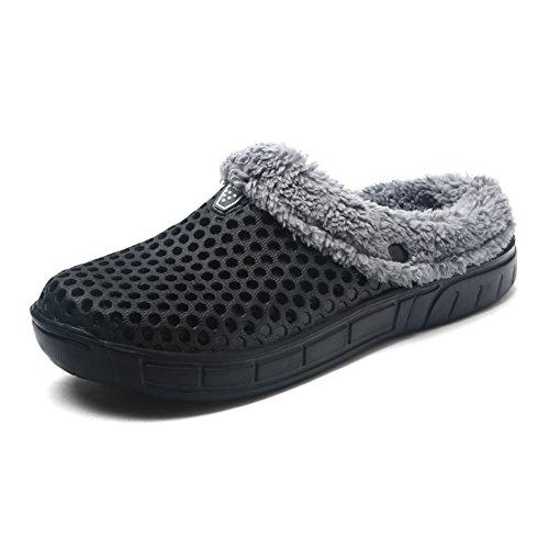 SITAILE Men Winter Home Slippers Mesh Fleece Lined Warm Slippers Indoor Outdoor...