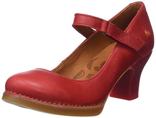 Art Memphis, Zapatos tacón Punta Cerrada Mujer, Rojo