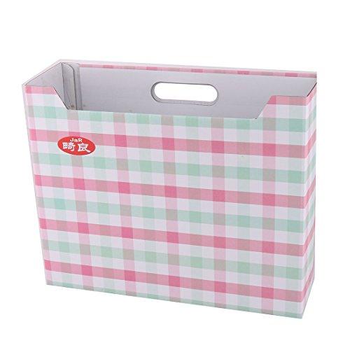 Sourcingmap® Papier Plaid Muster Briefpapier Organiser DIY Speicherung Koffer Deckel Container DE -