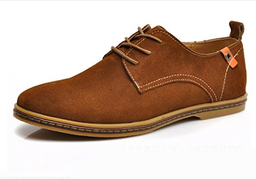 WZG chaussures de sport New chute mode hommes de suède cuir chaussures hommes flats 9.5 Orange
