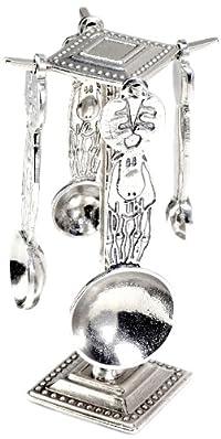 Crosby & Taylor Moose Pewter Measuring Spoon Set on Pewter Display Post