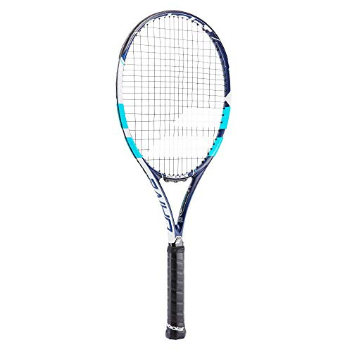 Babolat Pure Drive Wim Strung Raqueta de Tenis, Unisex Adulto, Azul/Blanco, 3
