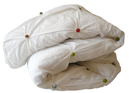 Decke, Handgemachtes Baumwoll-Duvet, Sofa und Bett wirft Decken. Original Tupfen Duvet. Exklusiv auf Linie, BeccaTextile. (Moderne Linien, Moderne Sofa)