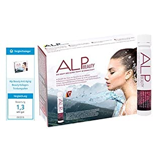 ALP BEAUTY Kollagen Trinkampullen 14x25 ml Anti-Aging Komplex mit Anti Falten Effekt & Hautstraffung mit Hyaluronsäure Kollagenhydrolysat Biotin Zink Glucosamin