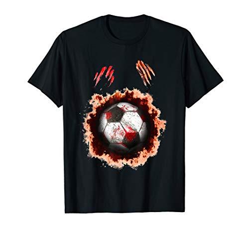 cer Player, Football Zombie Ball Gift T-Shirt ()