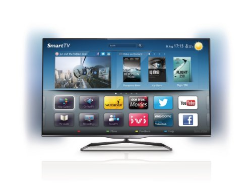 "Philips 47"" 47PFL5008T Full HD 1080p Smart (WiFi) 3D LED TV with FreeView HD and Ambilight (New for 2013)"