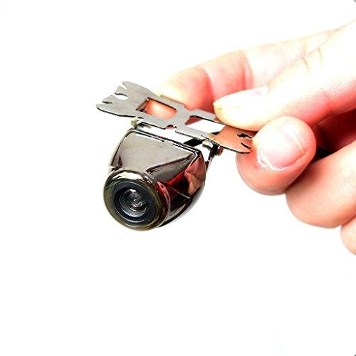 Auto de Reserva Cámara, Coche Trasero Vista cámara inoxidable impermeable Cromo Plata Metal Superficie. Alto Definición con Estacionamiento guía Líneas, Ancho vista ángulo reflejada Imagen - Libre 6M 20FT Alambrado Cable