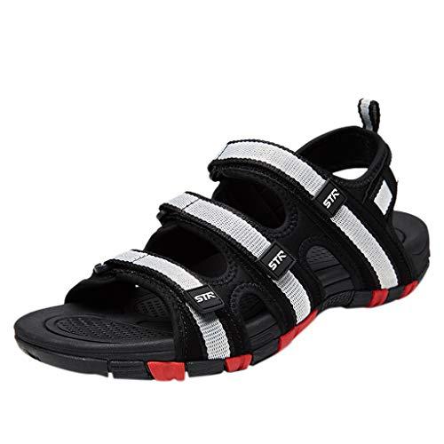 Casual Uomo Ciabatte Sandali,Zarupeng Pantofole da Spiaggia Uomo con Gancio Solido Scava Fuori i Sandali degli Appartamenti Casual Traspirante Scarpe