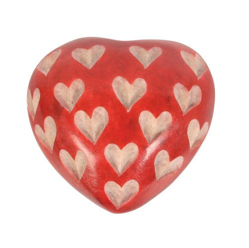 Sentiment Pebble Rot Herzförmige Love Heart Stone Inspiration Pebble/Handschmeichler