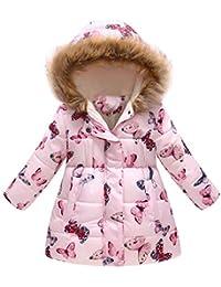 AchidistviQ - Abrigo Acolchado con Capucha para niños y niñas, cálido y Grueso, para Invierno, 1, Medium