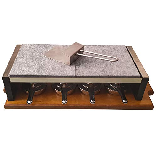 Set Completo para Asar Carne a la Piedra de 20x40x2,5 cm Especial Chuletón con 4 quemadores