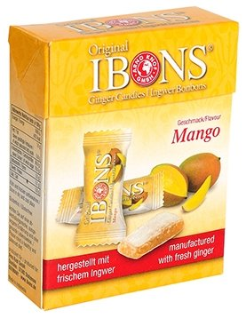 IBONS Kaubonbons 60 g (Ingwer-Mango)