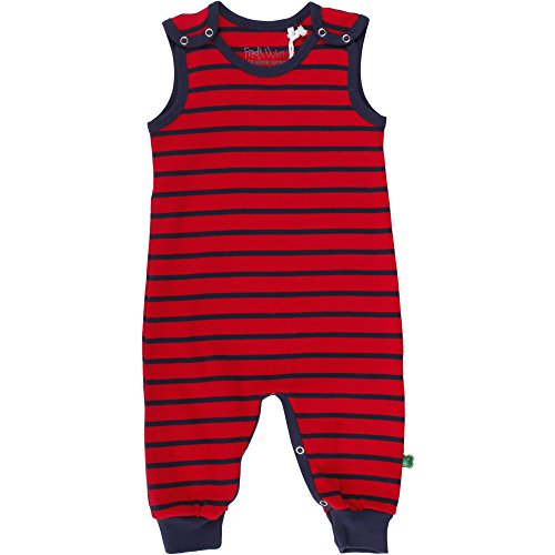 Fred's World by Green Cotton Unisex Baby Spieler Stripe Romper, Blau (Navy/Red 019800003), 68