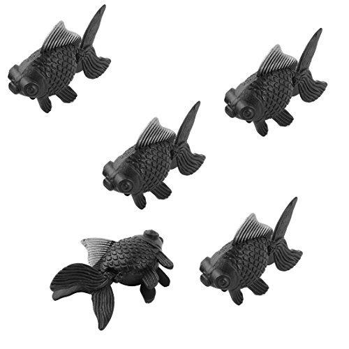 DealMux Aquarium-Fisch-Schüssel-Behälter aus Kunststoff Dekor Goldfisch-Verzierung 5pcs Weiß Schwarz (Und Verzierungen Weißen Schwarzen)