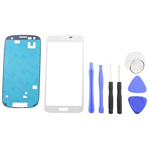 galaxy s5 glas Frontglas Display für Samsung Galaxy S5 G900F & Neo G903F Front Glas Touchscreen + Klebefolie + 7x teiliges Werkzeug Set Weiß für LCD Reparatur - ToKa-Versand®