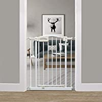Callowesse Carusi Narrow Stair Gate. Self Closing, Quality Pressure Fitted Baby Gate. No Tools Required.