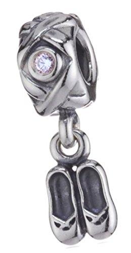 Dogs Stars Balettschuhe - Balerina Damen Bead - passend für Pandora Schmuck oder ähnlichem - 100% 925 Sterling Silber