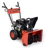 BRAST Benzin Kehrmaschine Schneefräse Schneeschieber 4,8kW(6,5PS) 80cm Breite Elektrostart Schnellwechsel-System 4 in 1 Gerät Vergleich