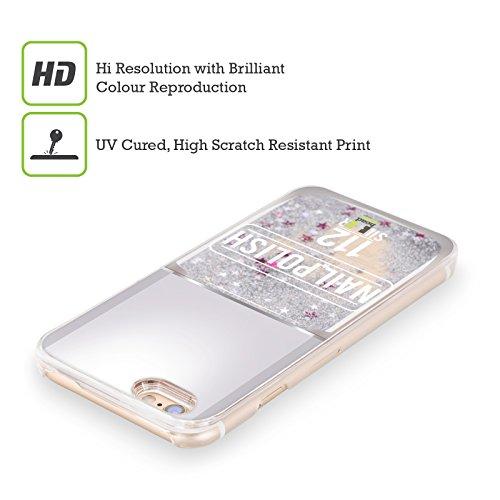 Head Case Designs Argent Vernis À Ongles Étui Coque Liquide Scintillez Argent pour Apple iPhone 6 / 6s Argent