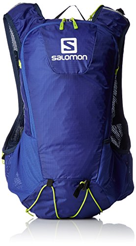 Salomon Bag Skin Pro Mochila, Unisex Adultos, Azul - (Surf The Web/Dress Blue/Acid Lime), 10 L
