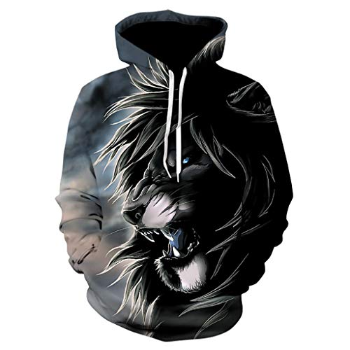◆Elecenty◆ Unisex 3D Graphic Print Realistic Casual Long Sleeve Hoodie Pullover Sweatshirt Cartoon Drucken Hoodies Langarmpullover Langarmshirt - Adult Heavyweight Long Sleeve T-shirt