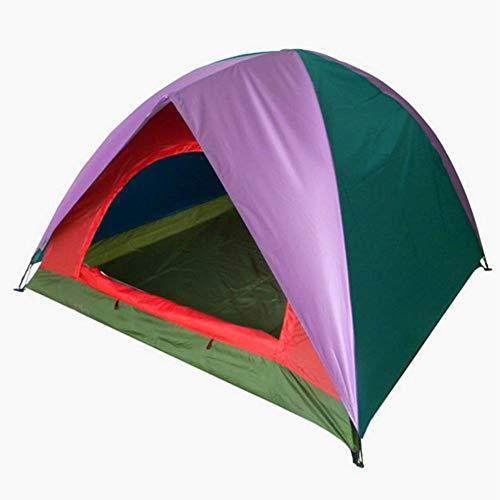 ZWGYQ Camping Tente Trois Portes Porte Simple Double Lac Camping Couleur Correspondant