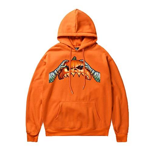 Setsail Paares Halloween Trendy Lässiges Tops Horrormuster drucken Party Langarm Hoodies Top Festliches Kostüm Sweatshirt - Gemütliche Teufel Kostüm