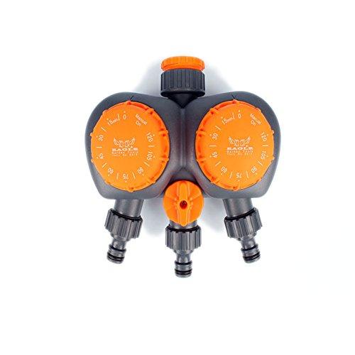 tolako 3/10,2cm 2Zone Garten Mechanische Bewässerung Timer Controller Programmierbare Dual Weg, Bewässerung Timer System -