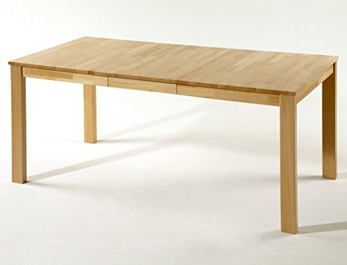 expendio hochwertiger Esstisch Emilian XL 125(165) x80cm ausziehbar Kernbuche Massivholztisch Holztisch