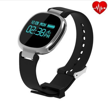 Unchained Warrior 100% impermeabile Smart Fitness Activity Tracker Orologio con cardiofrequenzimetro per nuoto, alta qualità TOUCH SCREEN indossabile Smart Band per Activity Tracking: Calorie, Sleep Tracker, allarme, pedometro braccialetto di sport e per ragazzi, ragazze, Uomo E Donna. Compatibile con Apple iOS, Samsung, HTC, HUAWEI Android con le Notifiche, colore: oro